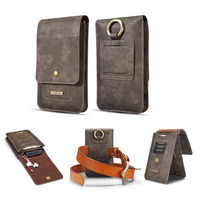 2018 Retro Leather Hook Pouch Phone Bag Belt Holster Cover Flip Wallet Phone Case For Samsung
