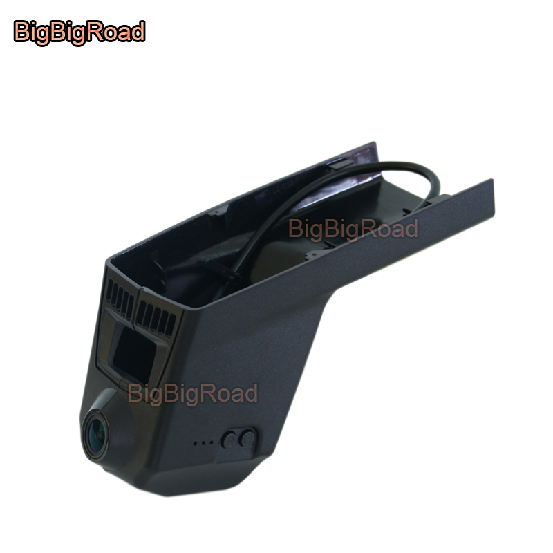 BigBigRoad For BMW X5 f10 2014 Car wifi DVR Video Recorder hidden Installation Novatek 96655 black box dash cam night vision mingge car dvr dash cam for bmw before 2012 f10 z4 e61 535 e9 750li x3 x5 x6 hd digital video recorder hidden type