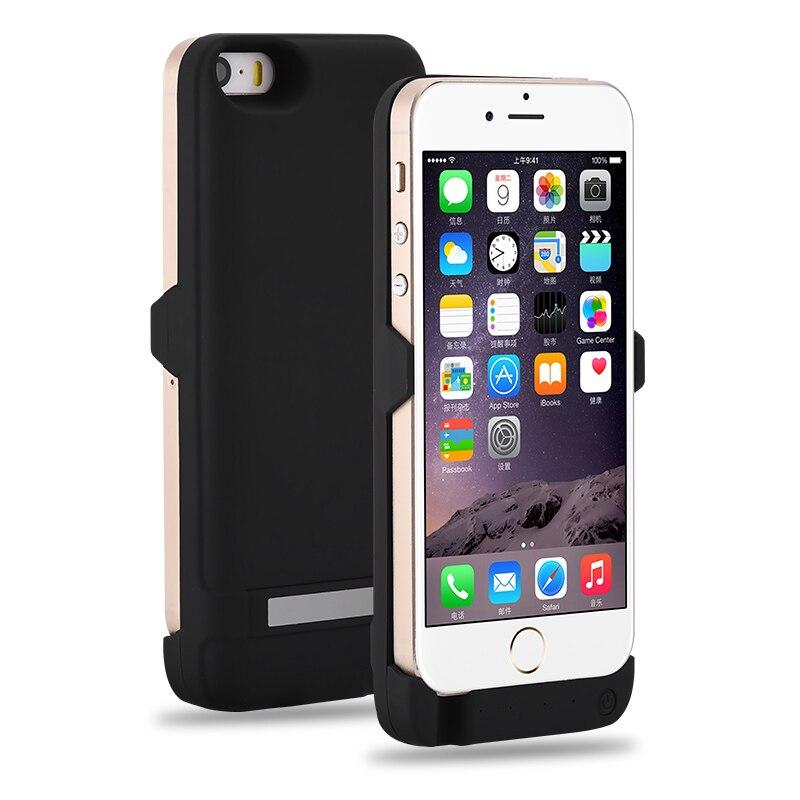 bilder für Für iphone 5 5 s se smartphone 4200 mah wiederaufladbare externe batterie batterie-backup-ladegerät-fall-abdeckung satz-energien-bank für iphone 5 5 s