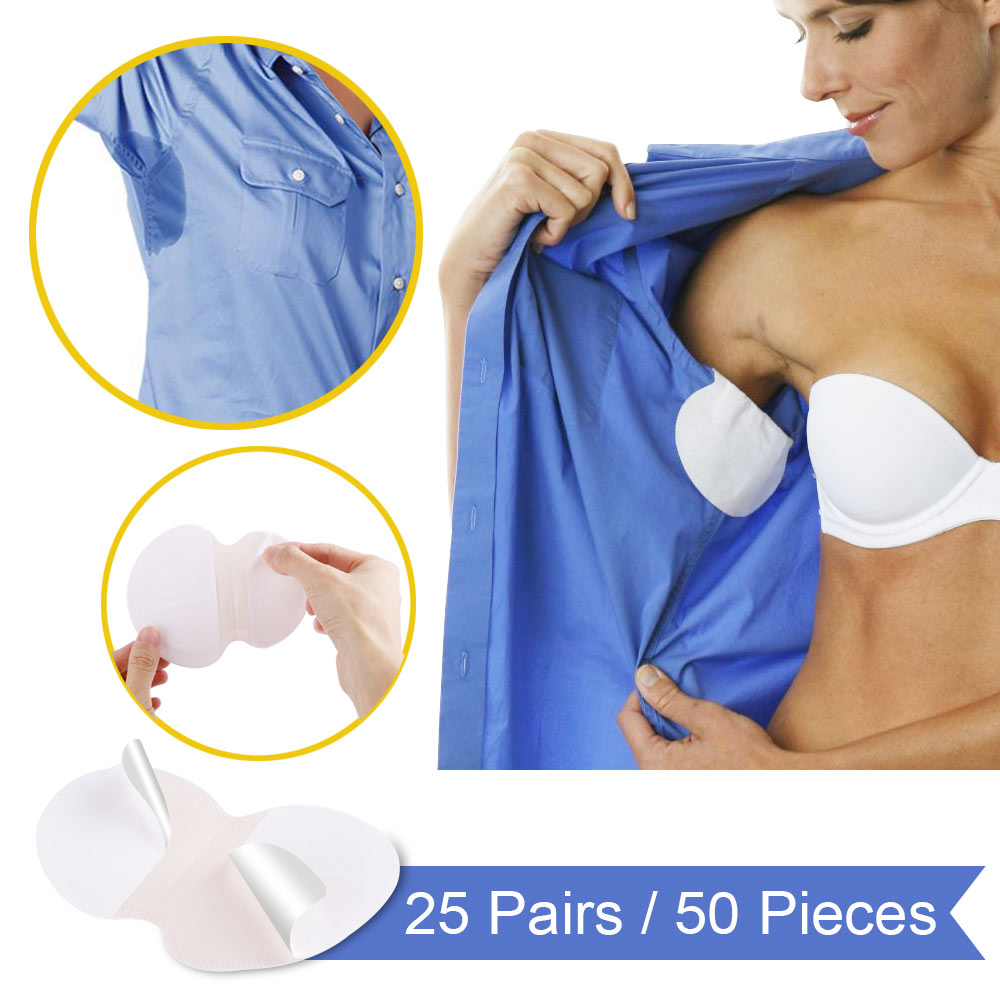 50PCS Disposable Absorbing Underarm Sweat Guard Pads Deodorant Armpit Sheet Dress Clothing Shield Sweat Perspiration Pads Que