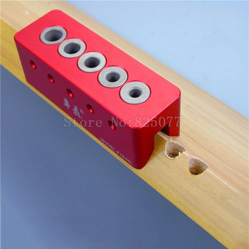 Woodworking 5 Holes V-Drill Guides Portable Drilling Guide Kit With 6mm,7mm,8mm,9mm,10mm Drill Bit Guide Bushings KF1009 8mm 9mm 10mm cr v triple socket spanner