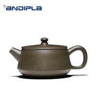 140ml Authentic Yixing Purple Clay Teapot Household Tea Ceremony Raw Ore Ball Holes Green Mud Zisha Pot Art Drinkware Tea Kettle|kettle tea|kettle pot|kettle ball -