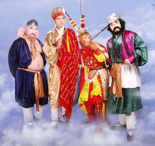 Cosplay costume China famous /Journey to the West / 4 clothes set  halloween stage performance carnival clothing