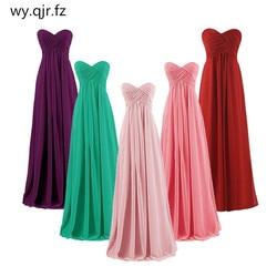 QNZL # Borgonha vestido de Baile Sem Alças plus size rosa Longos vestidos das damas de honra do casamento do partido do baile de finalistas do vestido 2019 atacado personalizado