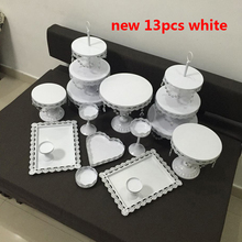 hot deal buy white wedding cake stand set 13  pieces cupcake stand barware decorating cooking cake tools bakeware set party dinnerware