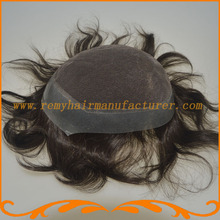 New arrival toupee mens wig base style top swiss lace with around pu bleach knot lace toupee stock free shipping