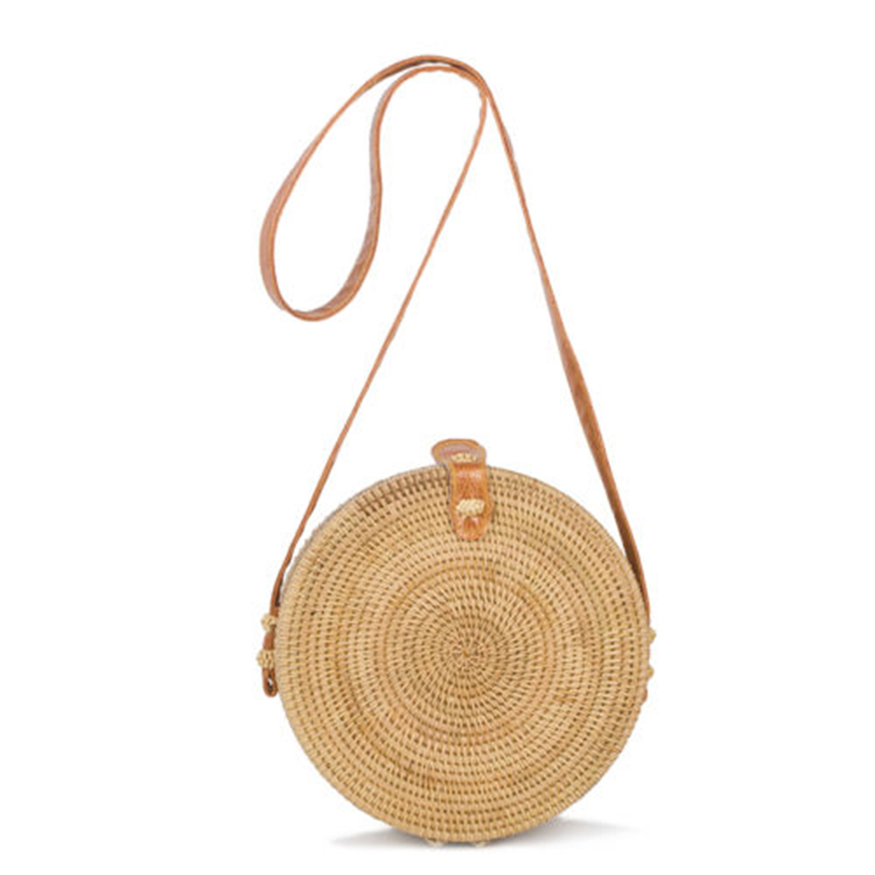 Women Straw Bags 2017 Bohemian Beach Handbags Small Circle Summer Vintage Rattan Shoulder Bag Handmade Kintted Crossbody SS0281 handmade flower appliques straw woven bulk bags trendy summer styles beach travel tote bags women beatiful handbags