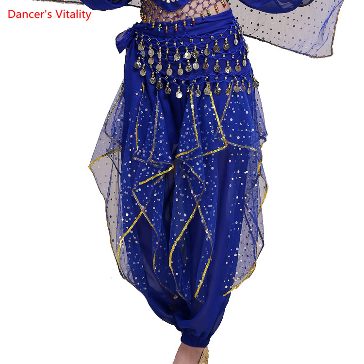 2018 Women Clothing Veil Belly Dance Trousers Tribal Pants Indian Dance Vientre Dance Clothes Practice Belly Dance Pants