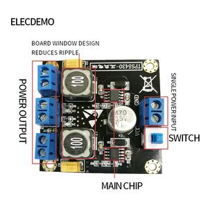 Image 2 - TPS5430 24V to positive and negative 5V12V15V  switching regulator power supply module board single power to dual power supply