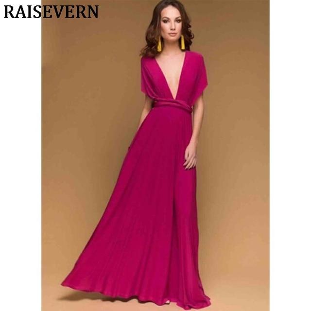 8e270da8ef 2PCS Sexy Multiway Wrap Convertible Women Dress Bandage Long Maxi Dress  Club Party Bridesmaids Infinity Robe