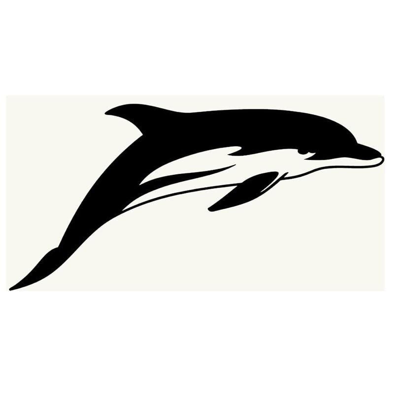 Jumping Dolphin Car Bumper Sticker Laptop Truck Door Wall Window Vinyl Decal