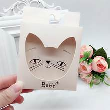 Small Kraft cardboard Hairpin paper card box packing Bow hair rope pair clip hair jewelry box gift handmade candy For Wedding(China)