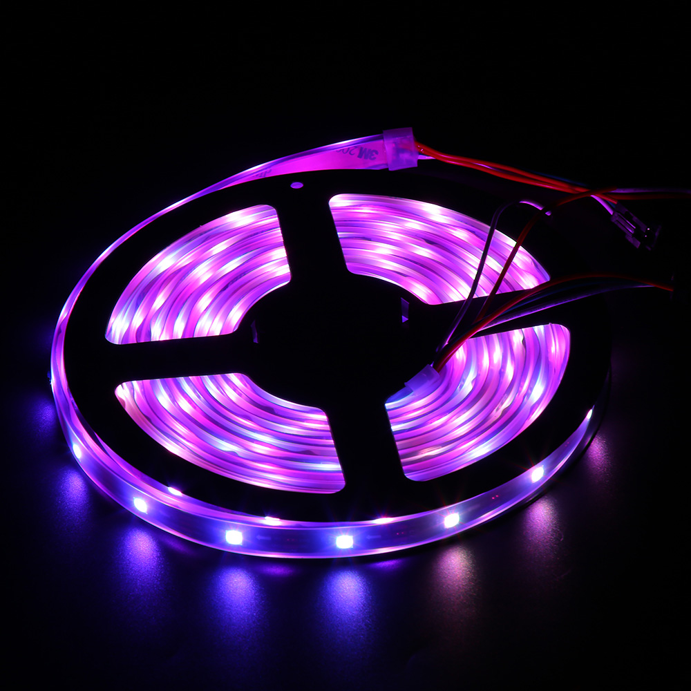 Led Waterproof Strip Lights White Flexible Rope Lighting: 4.94m 150 LEDs RGB Waterproof Colorful Dimmable Flexible