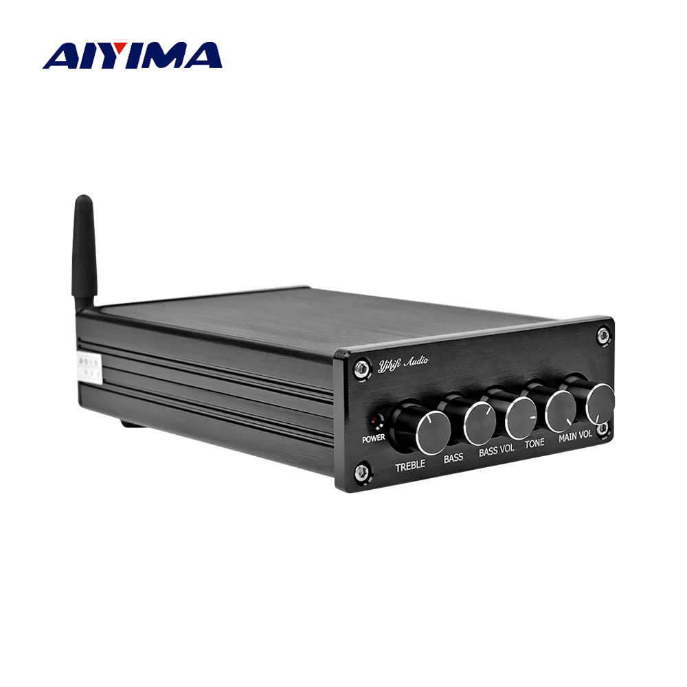 Aiyima Mini Amplificador Bluetooth Subwoofer 2.1 Amplifier Audio Papan TPA3116 Digital HIFI Stereo Power Amplifier Suara Amp