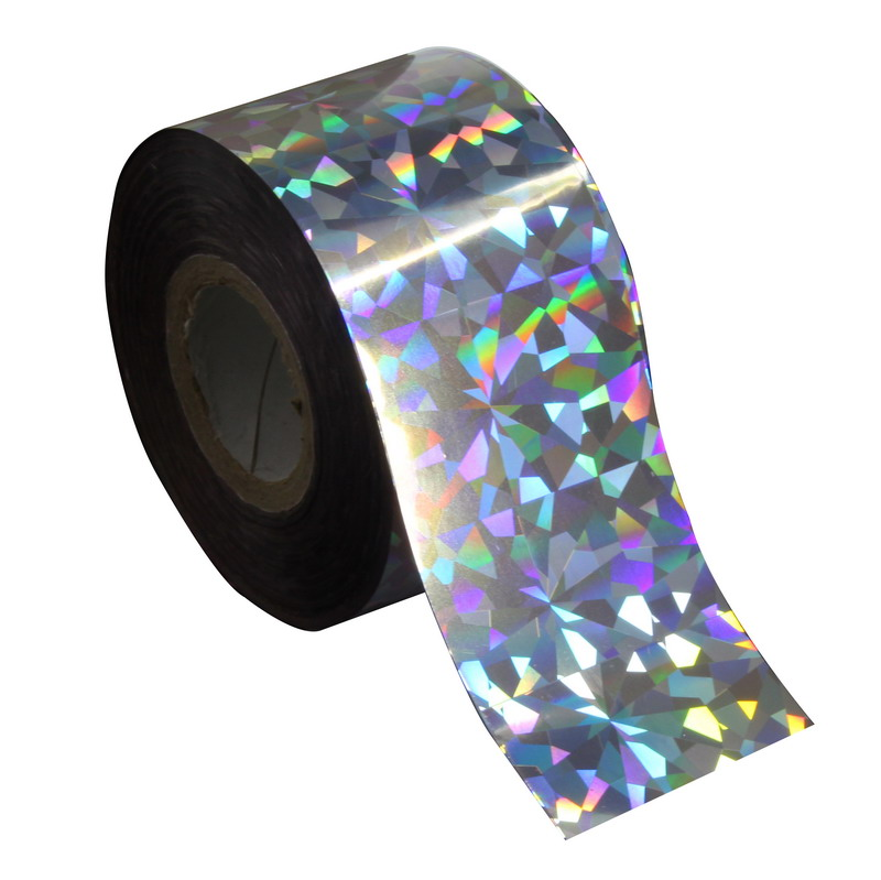 Holographic Glitter Silver Color Plastic Nail Transfer Foil 120m*4cm Rainbow Effect Laser Nail DIY Craft Starry Sky Serial WY270 120m 4cm holographic glitter nail transfer foil multicolor plastic laser effect nail art stickers diy nail beauty tools wy261