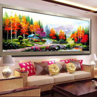 160cm X 48cm Countryside Landscape DIY 5D Rubik S Cube Round Diamond Painting Cross Stitch Embroidery
