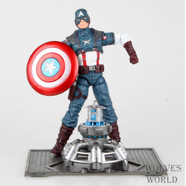 Classic Movie Hot Item 20cm Captain America Action Figures PVC brinquedos Collection toys Men christmas gift Free Shipping платье aurora firenze aurora firenze au008ewymb12