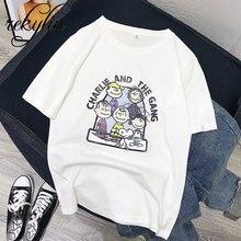 Fashion Short Sleeve T Shirt Charlie And The Gang Art Printed 100% Cotton Top Tees Casual O Neck T-Shirt Unisex TShirt