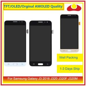 Image 2 - 50 шт./лот DHL для Samsung Galaxy J3 2016 J320F J320M J320 ЖК дисплей с сенсорным экраном дигитайзер панель J320 сборка полная