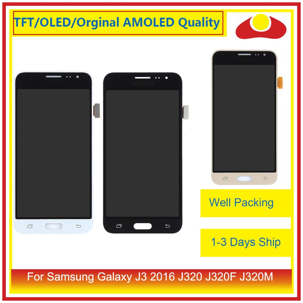 Image 2 - 50Pcs/lot DHL For Samsung Galaxy J3 2016 J320F J320M J320 LCD Display With Touch Screen Digitizer Panel J320 Assembly Complete-in Mobile Phone LCD Screens from Cellphones & Telecommunications