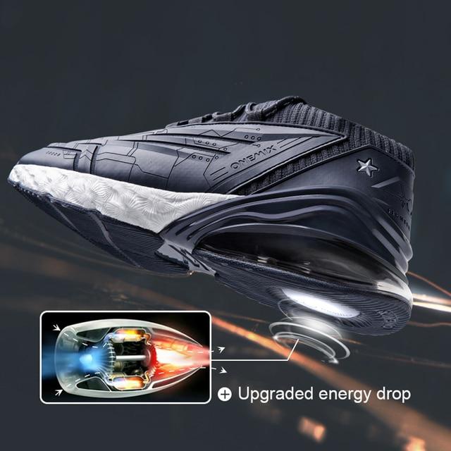 Homens Correndo Sapatos de Couro Superior 95 ONEMIX Air de Amortecimento Entressola Macia Sapatilhas Sapatos Ao Ar Livre Casuais Max UE 47