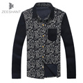 2017 Brand Warm Cotton Corduroy Men Casual Long Sleeve Shirts Velvet Spring Men Dress Shirt Chemise Homme in Men's Casual Shirt