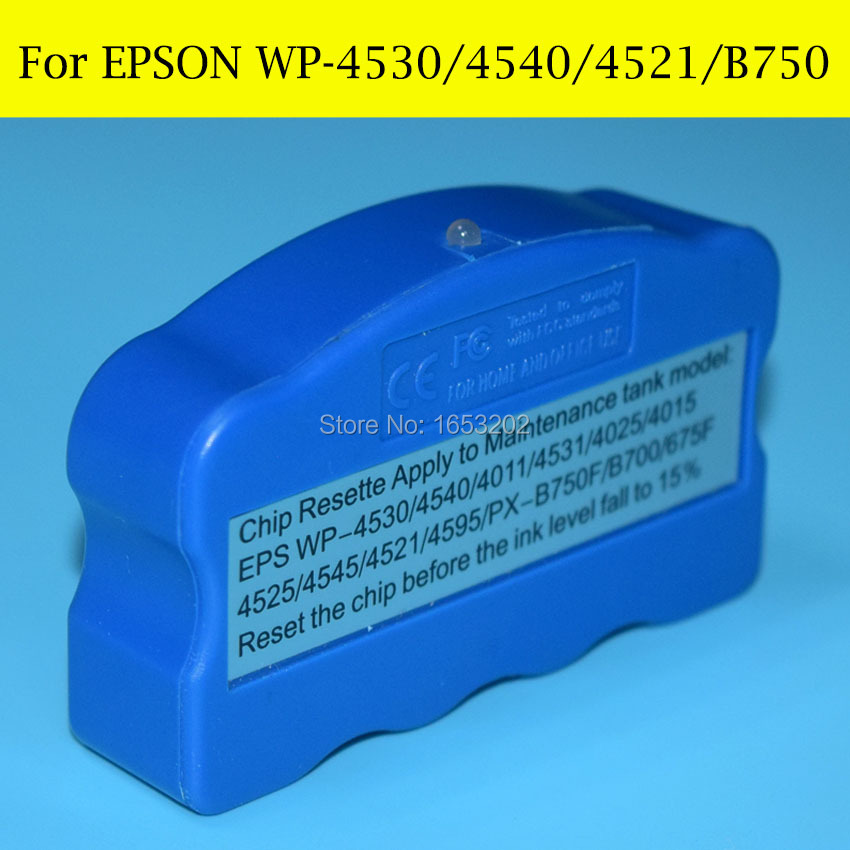 цена на T6710 T6711 Waste Ink/Maintenance Tank Chip Resetter For EPSON WF 2650 2660 3010 3011 3520 3530 3531 3540 3620 3621 3640 3640