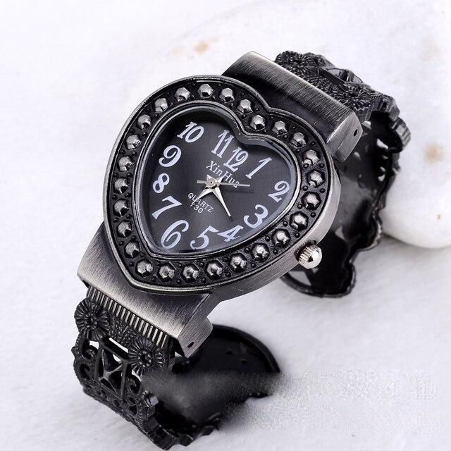 60aaba13cd77 Negro Reloj de pulsera de Cuarzo de Las Mujeres Logotipo de la Marca  Superior de Lujo