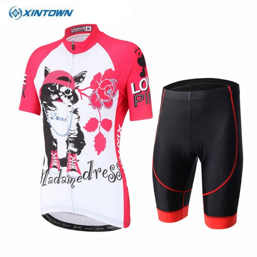 XINTOWN Women Summer Cycling Jerseys shorts set Cycling Clothing Fast Dry Bicycle Wear Ropa Ciclismo MTB Bike Clothes xintown women summer cycling wear short sleeve suit bike bicycle cycling clothing mtb shorts women s team cycling jersey sets