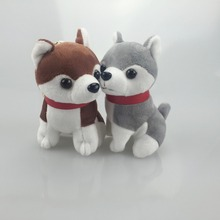 2017 trinket Mini Husky  Pom Pom KeyChains Women fluffy Bunny  Husky  Toy Doll Bag Car Key Ring Monster Keychain Jewelry Gift
