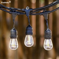Tanbaby 15M 15 LED E26 E27 String Lights Waterproof Indoor Outdoor Street Garden Backyard Holiday Decoration