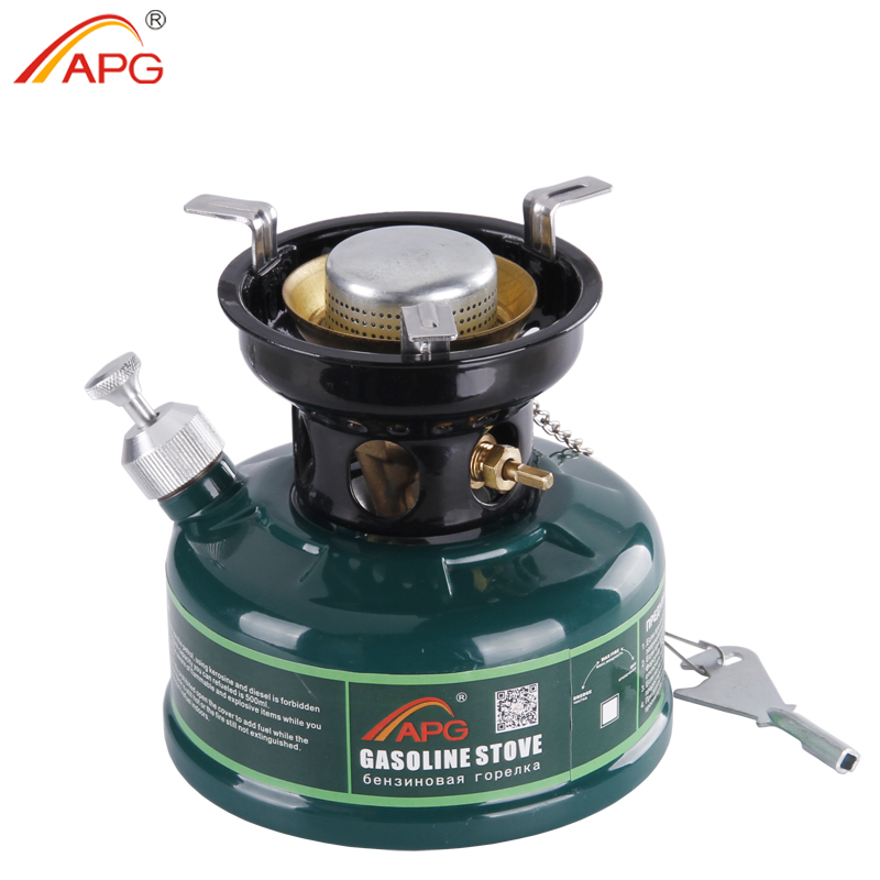 ФОТО APG Camping Gasoline Stove No Noise Oil Stove Burners Outdoor Cookware Picnic Furnace