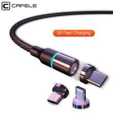 CAFELE 3A Быстрая зарядка Micro usb type C кабель Магнитный кабель для iPhone Xr Xs Max X магнит зарядное устройство для samsung huawei Xiaomi 9