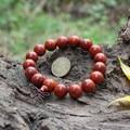 Hot High-grade real rosewood Bracelet Elastic Women & men red sandalwood Buddha Bracelet Buddhist prayer beads 15MM