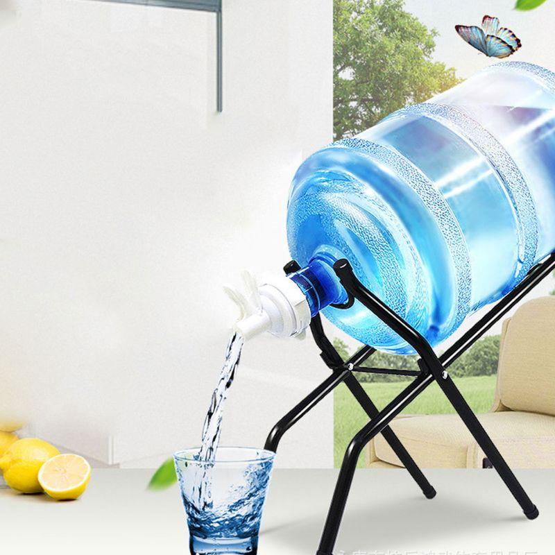 Rack-Holder Dispenser Cooler-Stand Nozzle-Valve Water-Bottle-Jug Foldable 5-Gallon