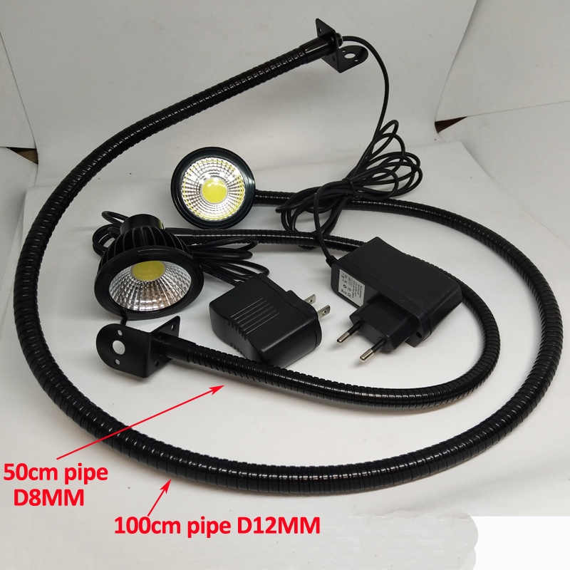 12V 24V 110V 220V WITH PLUG 5W Led Bed Mounted Reading Light With Flexible Pipe in Desk Lamps from Lights Lighting
