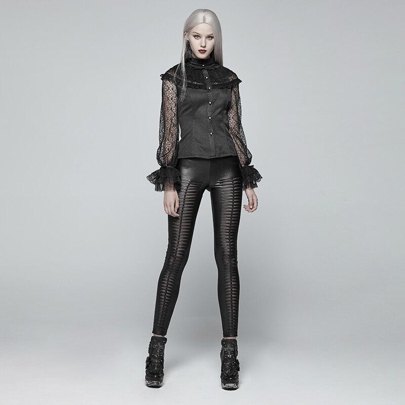 Nuevo estilo sexy negro Cruz Red de cintura alta y cuerpo bottompants leggings - 6