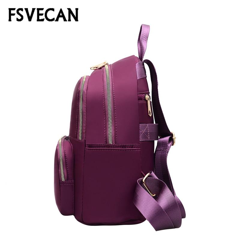 FSVECAN nowy 2019 kobiet plecak wodoodporny Mochila Mujer na co dzień podróży lekki Nylon plecaki szkolne dla nastolatków dziewczyny plecak w Plecaki od Bagaże i torby na  Grupa 2