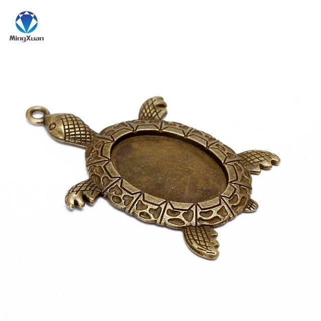 Фото mingxuan 10 шт черепаховая подвеска с бронзовой филигранью под