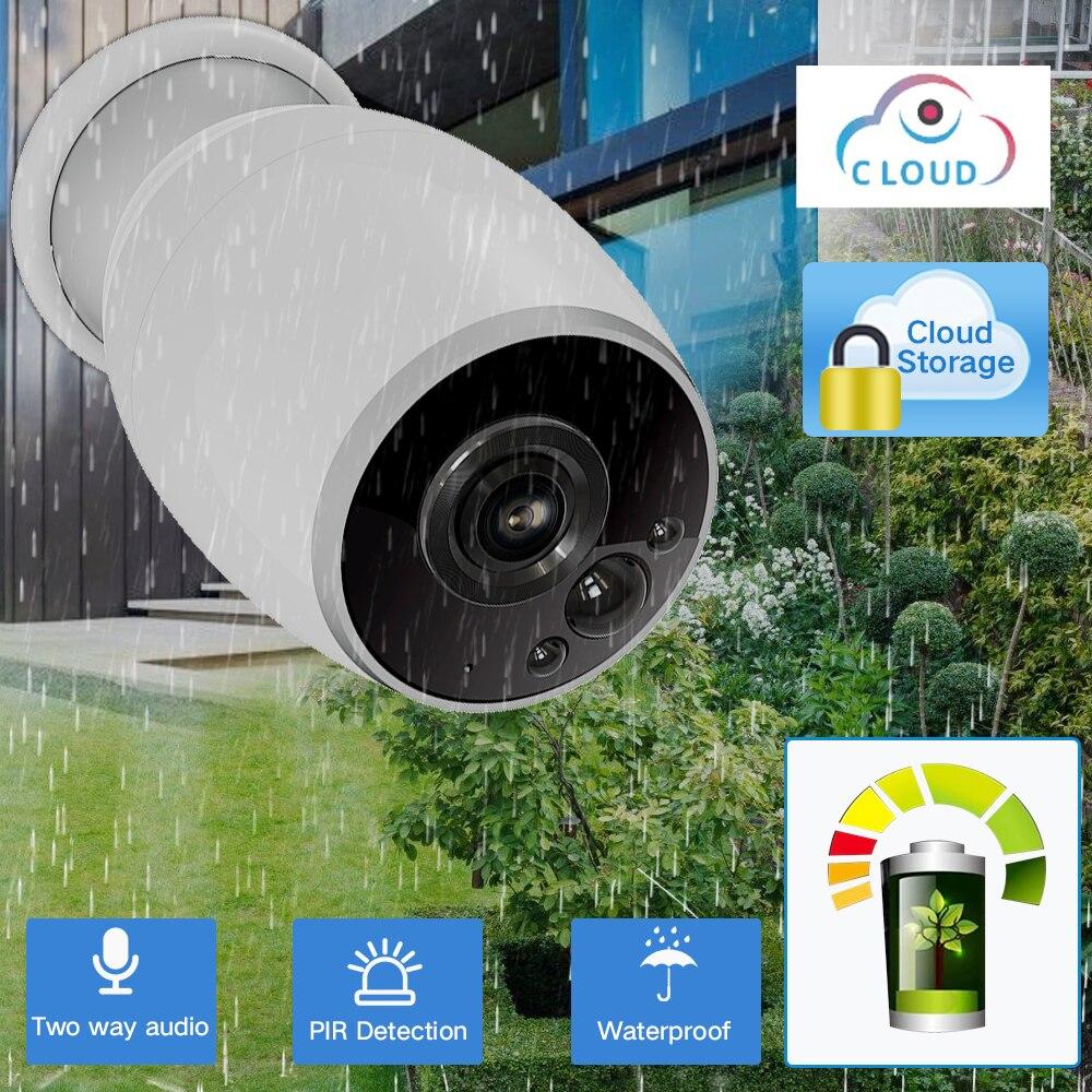 SDETER Rechargeable Batterie Propulsé Wifi Caméra IP 720 p Extérieure IP64 CCTV Caméra de Sécurité Deux Voies Audio PIR Capteur