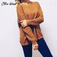 Mix Wind Straps Knitted Pullover Knitted Pullover Sweater Women Hollow Out Soft Femme Autumn Winter 2017