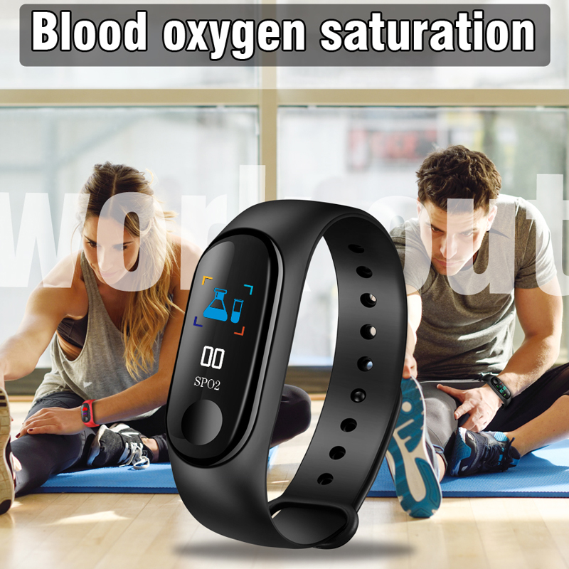 Sports Bracelet IP67 Waterproof Anti lost Smart Bracelet Blood Pressure Monitoring ECG Fitness Tracker Smart Band PK mi band 3 in Smart Wristbands from Consumer Electronics
