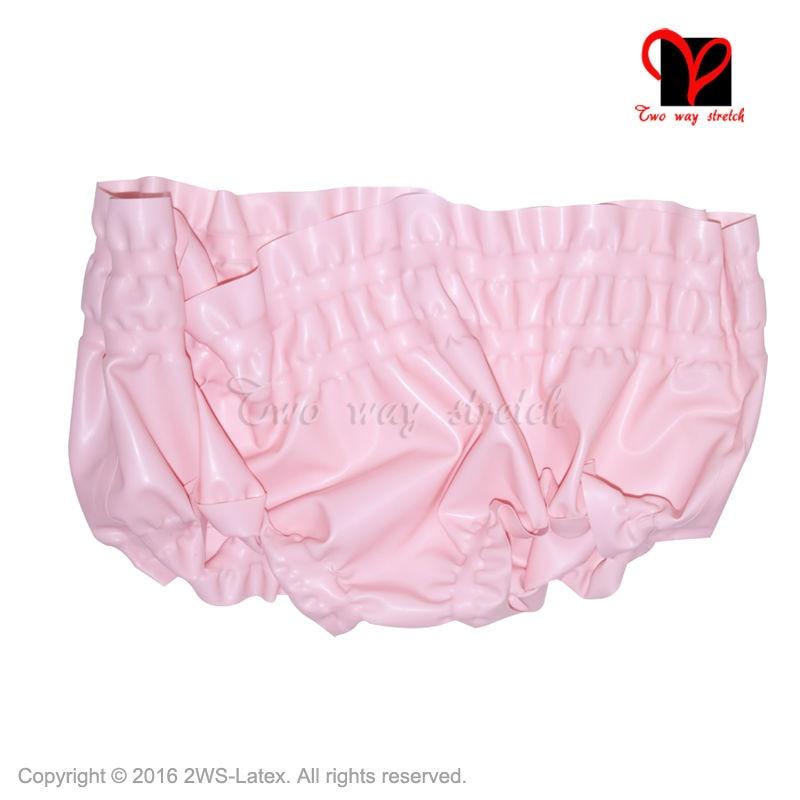 ツ)  ¯Sexy Transparentem Latex pumphose gummiband unterwäsche Shorts ... fb1ce013e3