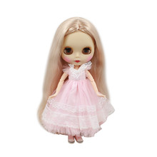 blyth doll matte face joint body factory 300BL3139 golden long curly hair without bangs 1/6 doll girl present DIY bjd dolls(China)