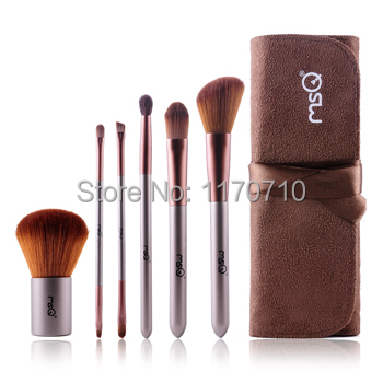 FREE SHIPPING! Best Quality Synthic Hair Professional Makeup Brush Set 6PCS/Set Including a Pu Leather Bag! best new product on sale 30% 750ml brazilian keratin hair treatment hair free shipping