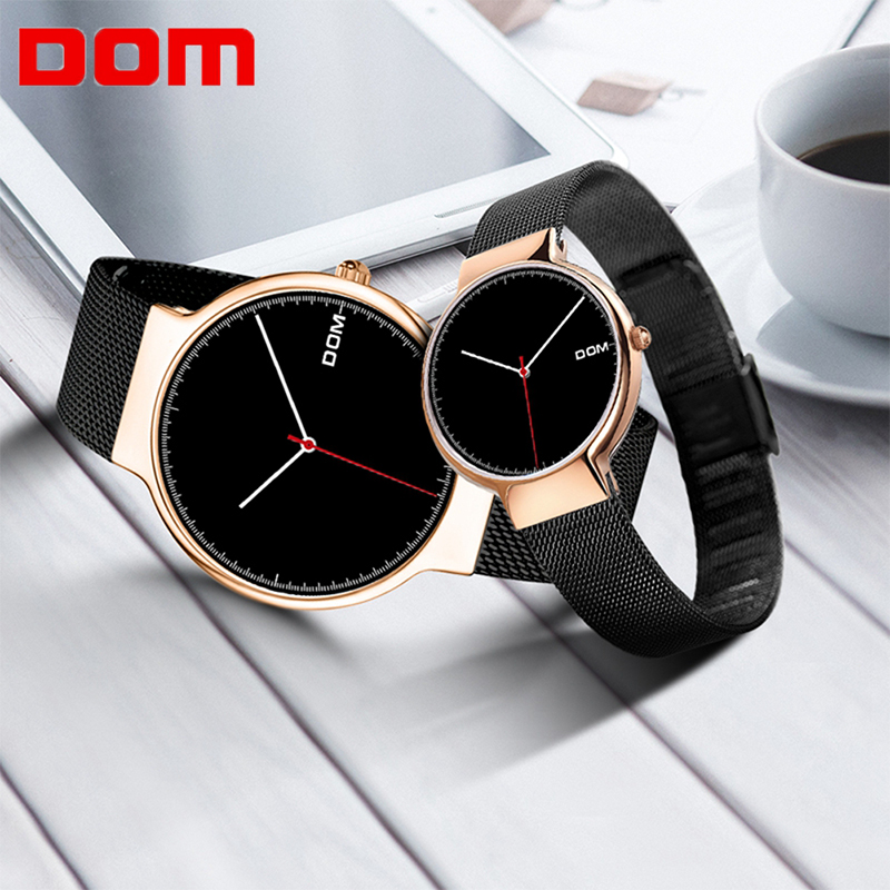 DOM Simple Series Men And Women Couple Watches Men's Waterproof Casual Quartz Wrist Watch Fashion Lady Watch Paul Valentine
