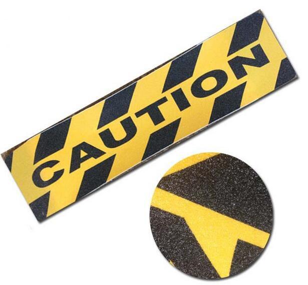 60x15CM CAUTION Adhesive Tape Sticky Warning Tape Floor Anti Slip Tape