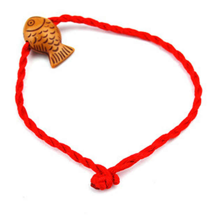 1PC Hot Women Girls Chinese Knot Heart Leaf Rope Chain Lucky Charm Decent Red Rope Bracelets Animal Pandant Jewelry Gift
