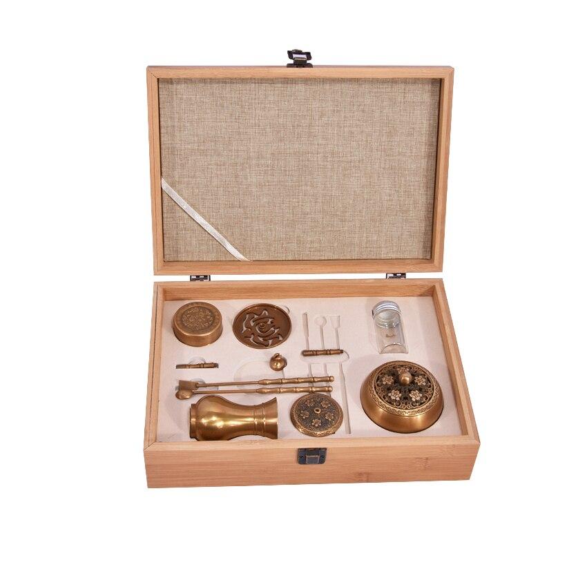 Nouveau brûleur d'encens en cuivre de haute qualité mis boîte à outils encensoir fin cadeaux et artisanat décorations pour la maison porte-encens four à arôme