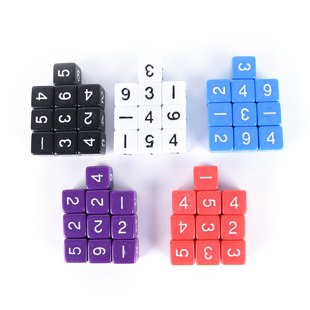 10PCS D6 Drink Digital Dice Set  For Funny Party Club Pub Board Playing Game Accessory 5 Colors 16mm